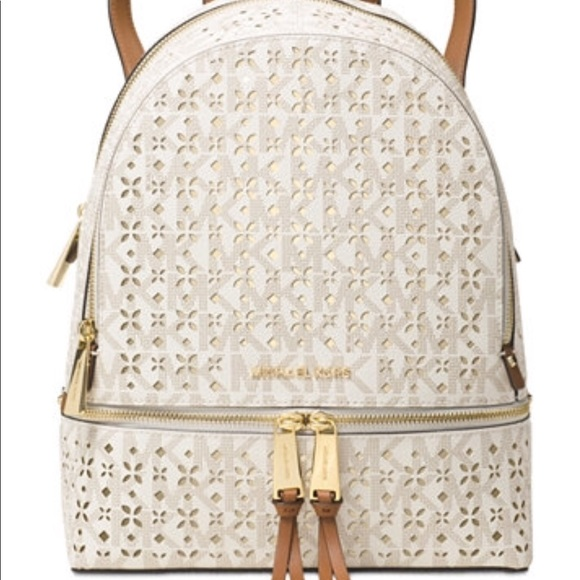 ec43926ef3800f Michael Kors Bags | Rhea Zip Medium Perforated Backpack | Poshmark